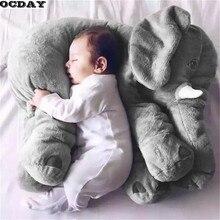 OCDAY мультфильм 60 см большой плюшевый слон игрушка Дети Спящая задняя подушка мягкая подушка слон кукла подарок на день рождения для детей