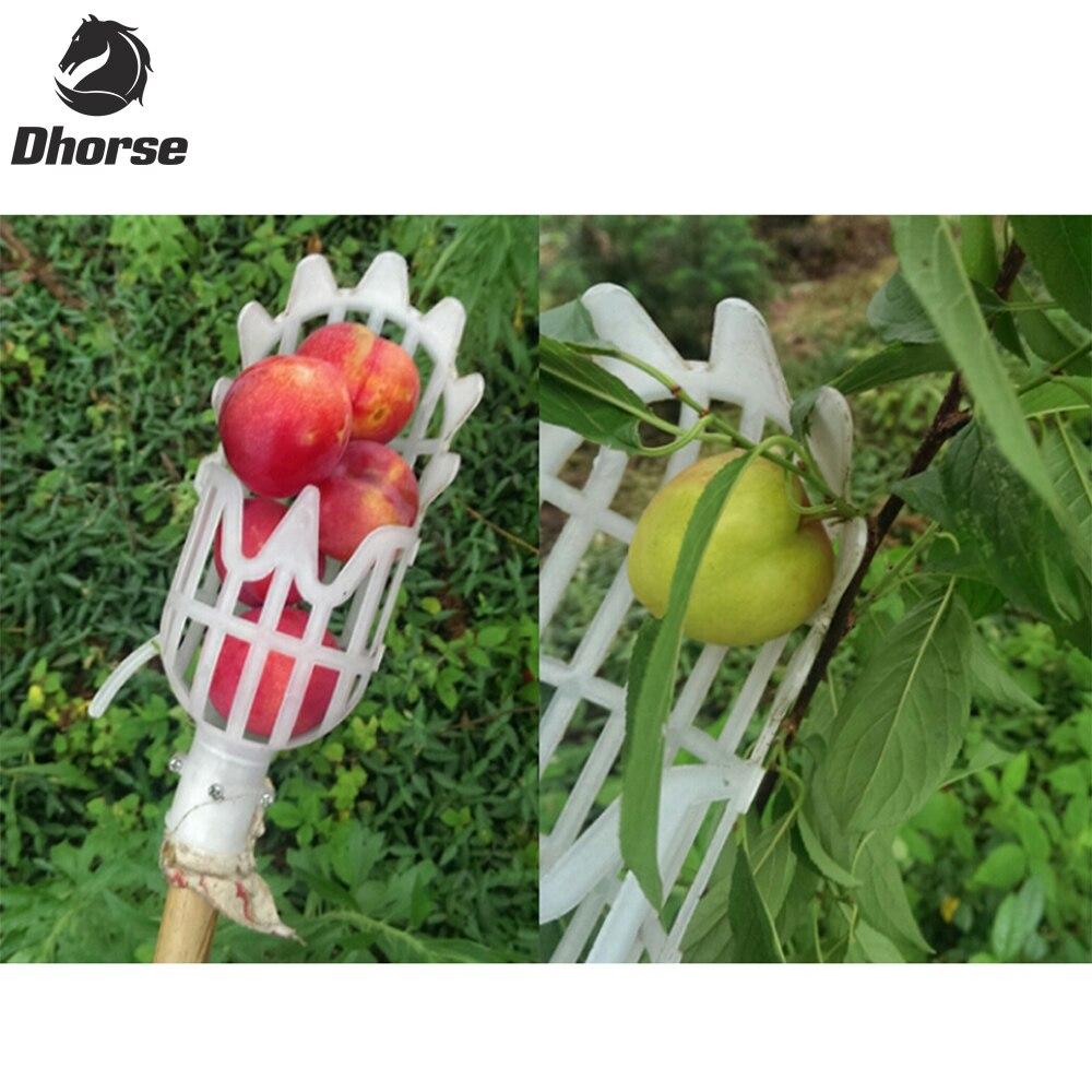 Dhorse plástico fruta selector sin Polo fruta catcher gardening picking herramienta jardín Rastrillos sx077