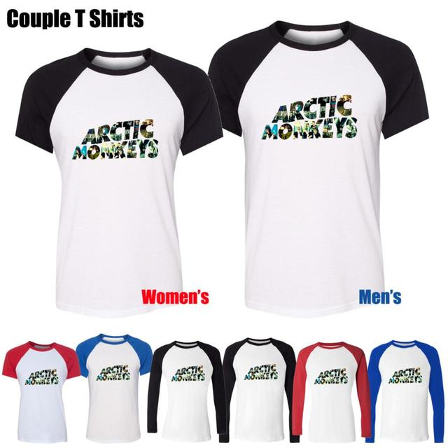 Hot Sale Famous Arctic Monkeys album Design Printed T-Shirt Women's Girl's Tee Tops Red or Black Sleeve