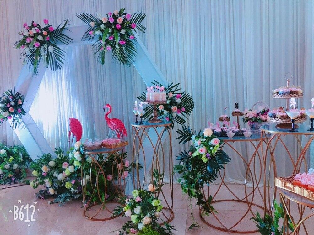 5 pièces table à dessert ronde porte vase à fleurs grand support de gâteau centres de table de mariage fête d'anniversaire gâteau cupcake table affichage