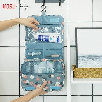 travel cosmetic bag Women Makeup Bags Toiletries Organizer Waterproof Storage Neceser Hanging Bathroom Wash Bag