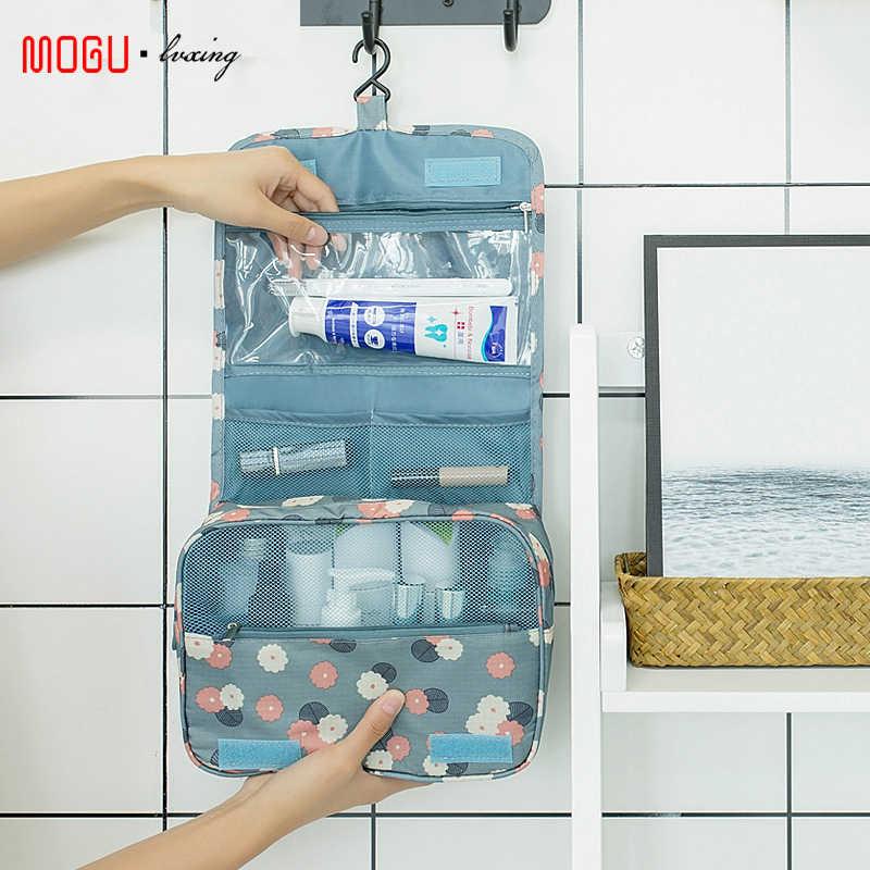 Kosmetyczka podróżna kobiety torebki na makijaż organizer do przyborów toaletowych wodoodporne przechowywanie Neceser wisząca łazienka worek do prania