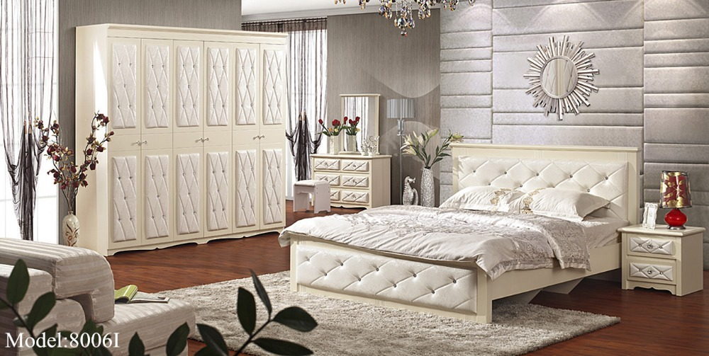 2016 para quarto nightstand bed room furniture set hot for Bed designs 2016