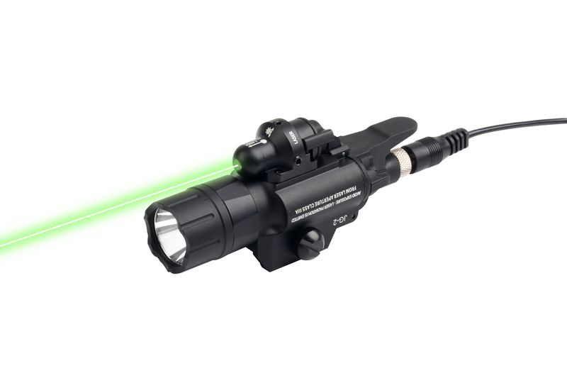 Hunting 500 Lumens Weapon Light Tactical LED Flashlight With Green Laser Sight for Picatinny Rail For Airsoft платье