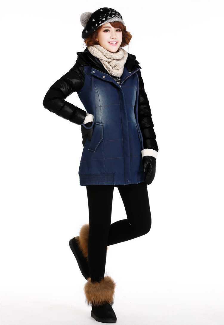New coming fashion winter min long students fleece layer thicken preppy font b jeans b font