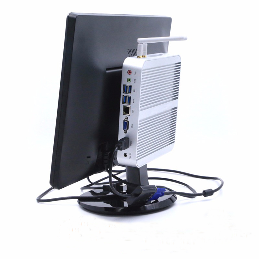 8GB RAM+500GB HDD Core I5 4200U Fanless Mini PC Mini Industrial Embedded PC,Intel HD Graphics 4400,USB3.0,HDMI,Nettop