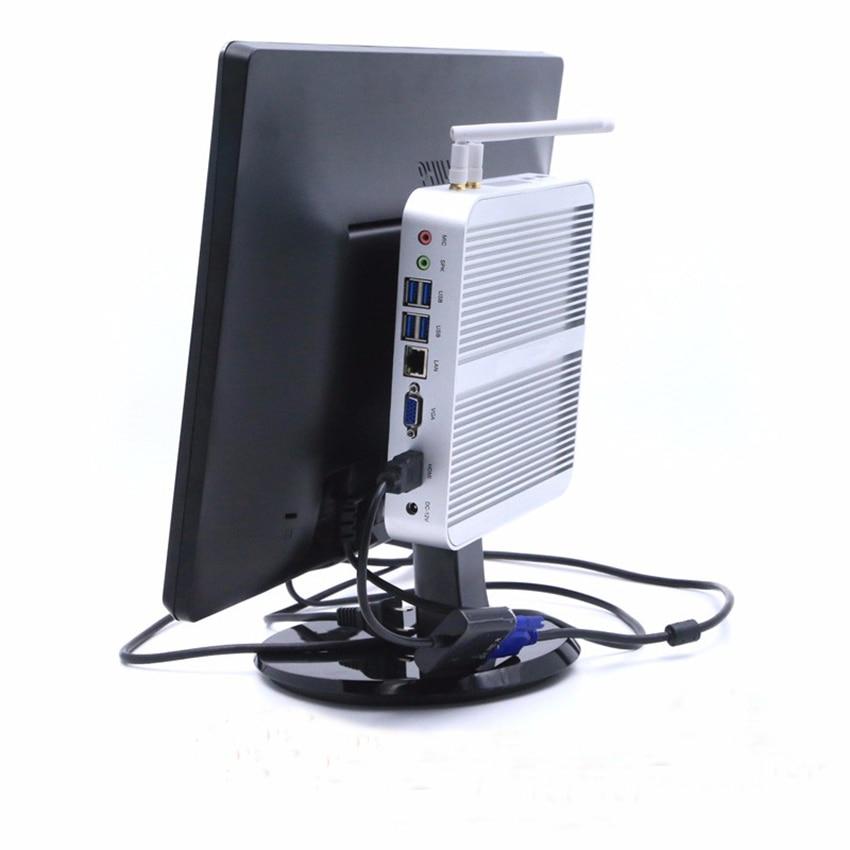 8GB RAM+500GB HDD Core I5 4200U Fanless Mini PC Mini Industrial Embedded PC,Intel HD Graphics 4400,USB3.0,HDMI,Nettop