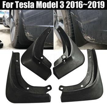 2019 Araba Çamur Flaps Splash Guard Fender Çamurluk Tesla Modeli 3 + Sabitleme Vidaları