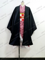 Anime Cosplay Demon Slayer Kimetsu no Yaiba Kamado Nezuko Cosplay Costume Kimono Full Outfit A
