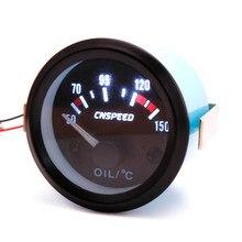 CNSPEED 52 ミリメートル 12V ユニバーサル油温計のメーター黒インジケータパネル自動油温ゲージメーター XS101265