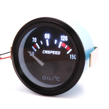 CNSPEED 52mm 12V Universal Auto Öl Temp Gauge Meter Mit Sensor Schwarz Anzeige Control Panel auto Öl Temp gauge meter XS101265