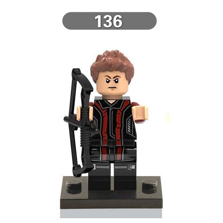 1pc Marvel Super Heroes  Avengers Thor diy figures Hawkeye Building Blocks Sets Model Bricks  Kids Toys Figures Xmas Gift