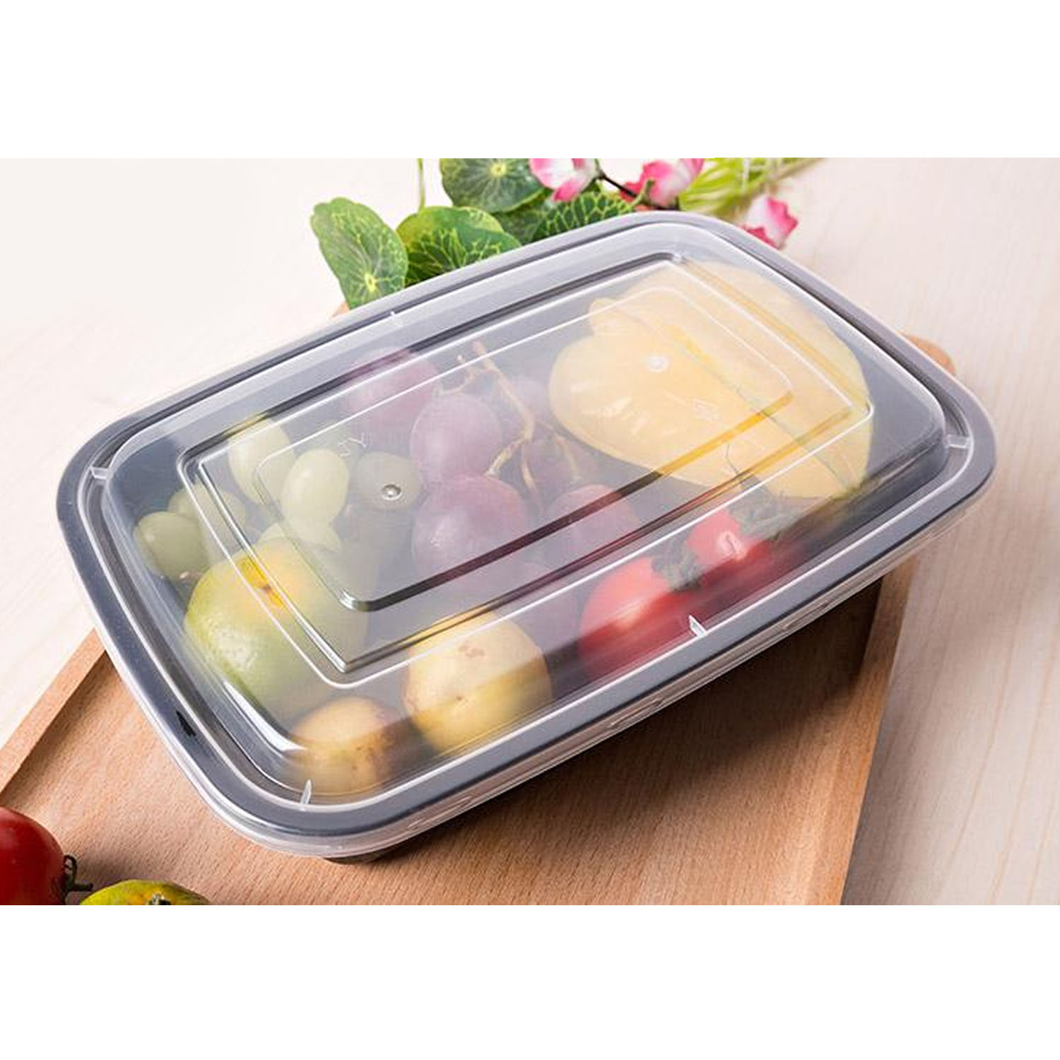 US $14 31  Behokic 10 Pack Disposable Plastic Food Storage Containers Lunch  Box Bento Box with Lid Freezer Dishwasher Safe-in Lunch Boxes from Home &