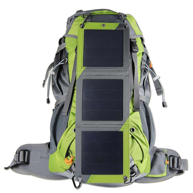 ECEEN Solar External Frame Backpack Powered Hiking Bag Pack with 10 ...