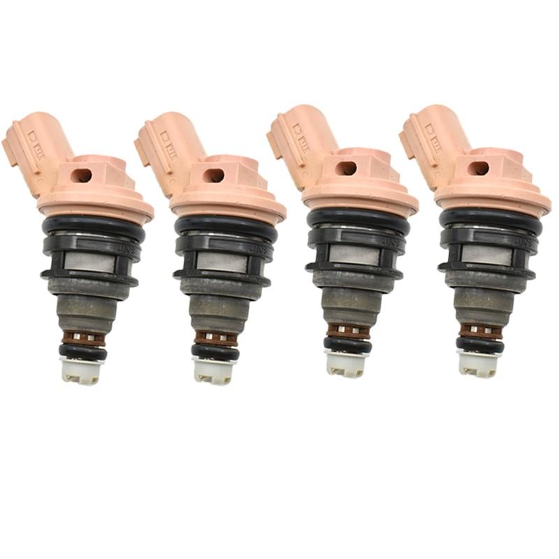 Original used 4Pc Fuel Injector Nozzle For Nissan Maxima A32 VQ20DE 16600 57Y00 16600 57Y01 good
