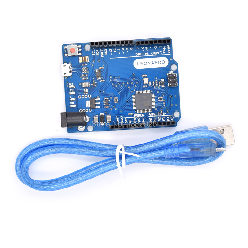 Image 2 - 10set/lot Leonardo R3 development board Board + USB Cable compatible-in Integrated Circuits from Electronic Components & Supplies