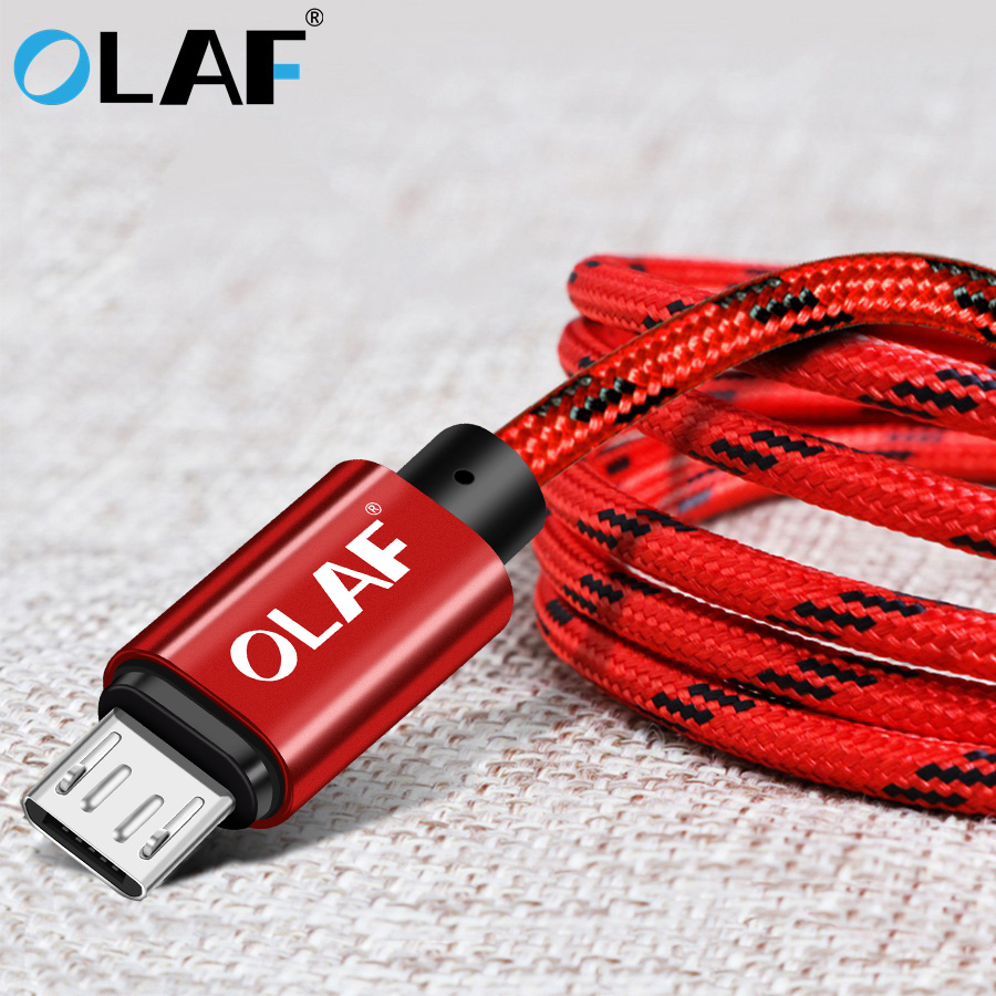 OLAF 1m/2m/3m Micro USB Cable Fast Charging For xiaomi samsung huawei Mobile Phone Charger Usb C for iphone cable