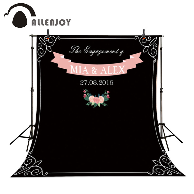 Allenjoy DIY Wedding photobooth Chalk Archway background amazing chalkboard Custom name date backdrop photocall Exclude bracket allenjoy diy wedding photography background romantic love wood board custom name date phrase backdrop photocall