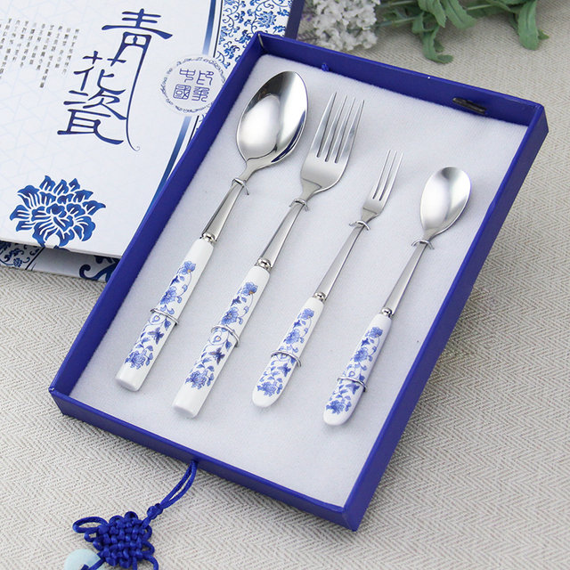 Best Christmas Gift 2 and 2 Forks Tableware Sets Porcelain Dinner Sets QHC006 & Best Christmas Gift 2 and 2 Forks Tableware Sets Porcelain Dinner ...
