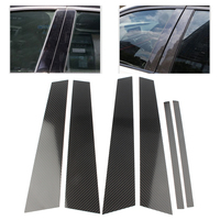 6pcs Auto Window B Pillars Trim Cover Moulding Protective For BMW 5 Series G38 2018 Carbon Fiber Car Accessories|Styling Mouldings| |  -