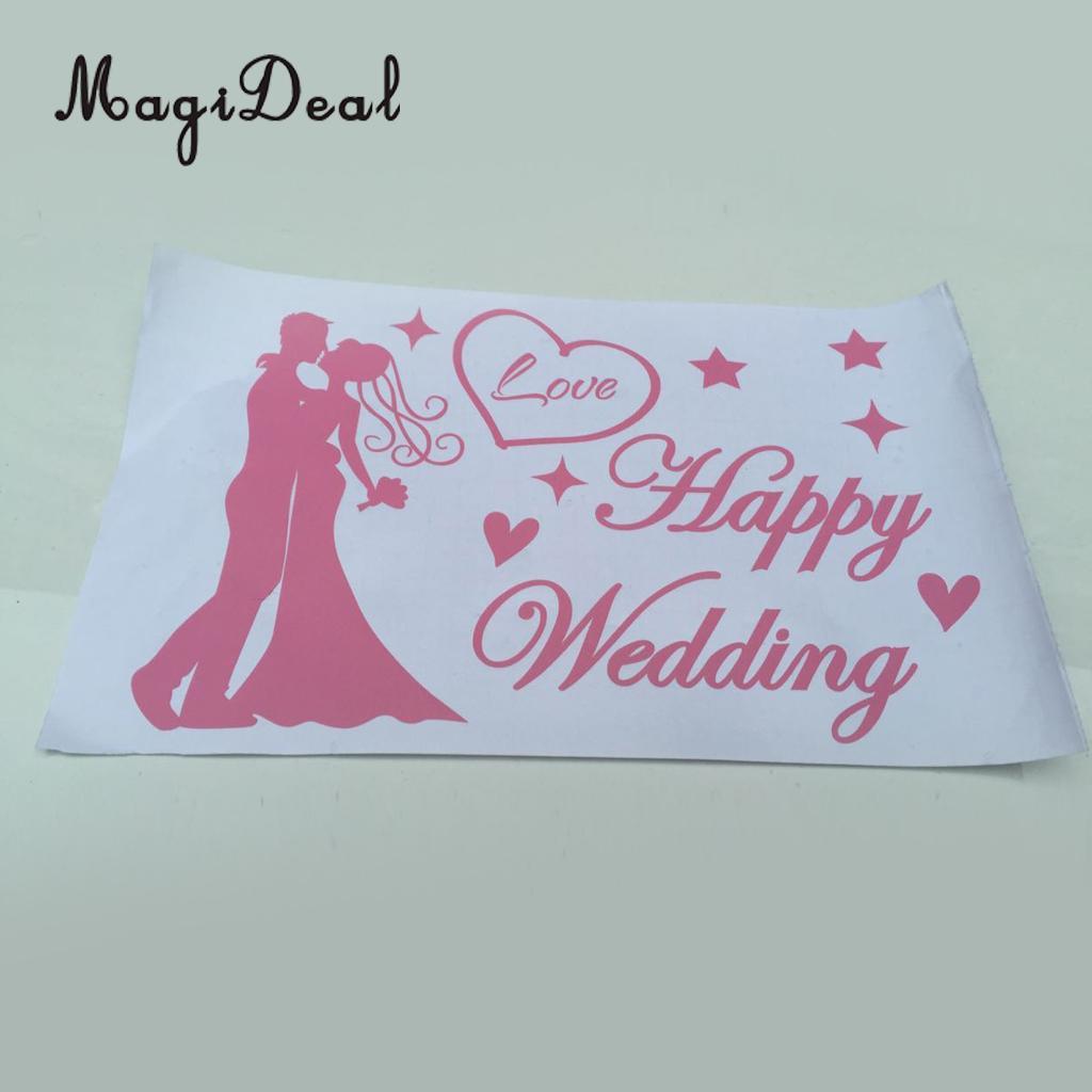 Magideal Romantic Happy Wedding Stickers Decal Jumbo Bobo Balloons