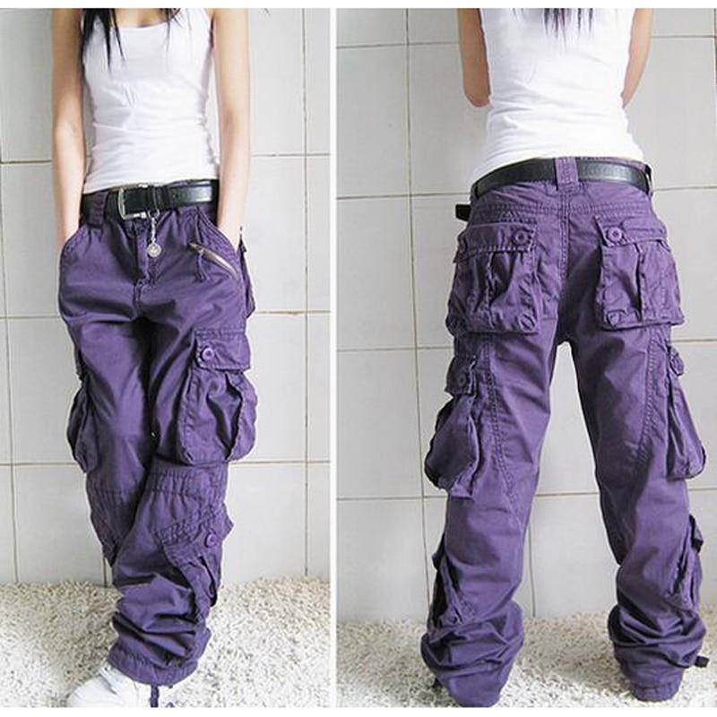 Baggy Pants 5 colors 2018 New Arrival Plus Size Cargo Pants Thick overalls pockets Hip Hop