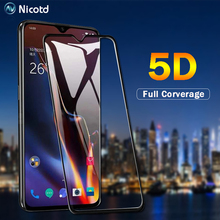 Nicotd For Oneplus 6T 5D Glass Tempered Film 1+6 One plus 5 Full Cover Screen Protector 5T 1+5T tempered glass