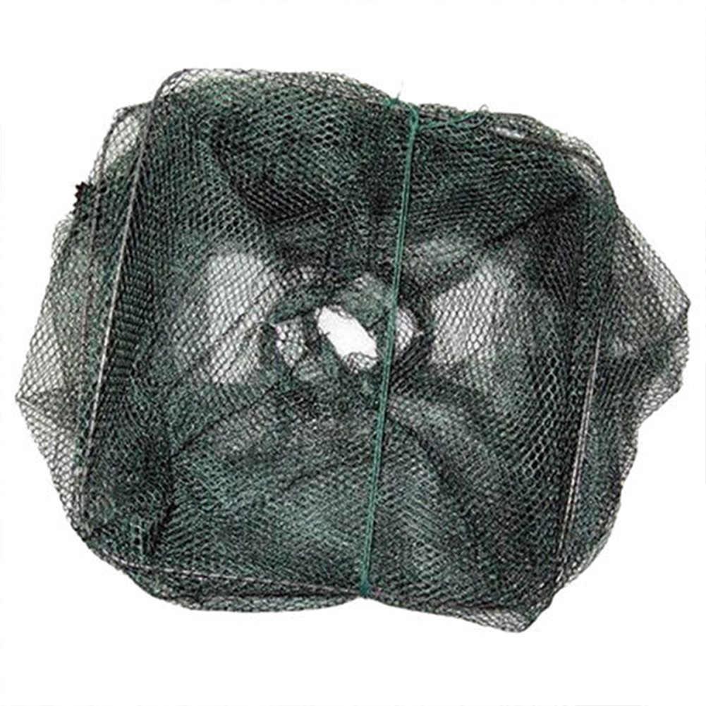 Prático Dobrável Cesta Gaiola Camarão Crawdad Minnow Isca De Pesca Armadilha Elenco Net Drop Shipping #0904
