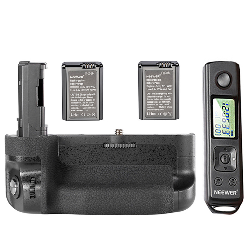 Neewer LCD 2.4G Wireless Remote Control Vertical Battery Grip Replacement for VG-C2EM with Screen Lock Function and BatteryNeewer LCD 2.4G Wireless Remote Control Vertical Battery Grip Replacement for VG-C2EM with Screen Lock Function and Battery