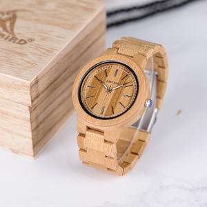 Image 3 - ボボ鳥 WP23 シンプルなクォーツ腕時計すべてオリジナル竹腕時計日付表示男性女性