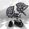 Wellbaby gêmeos antes e após os dois-carrinho de criança alta paisagem pode sentar ou deitar dobra Dupla entrega gratuita