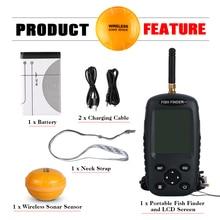 Goture Bilingual Russian / English Wireless Fish Finder 0.6-40m Fishing Depth Sounder Echo-sounder Fishfinder Fishing Tackle