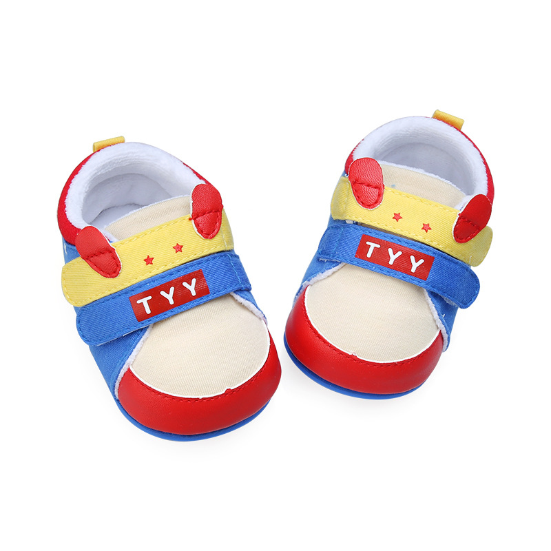 Baby Boy Multi-Colors Shoes Two Strap New Born Baby Girl Toddler First Walker Rubber Sole Non-Slip Cartoon Infant Shoes 0-18m