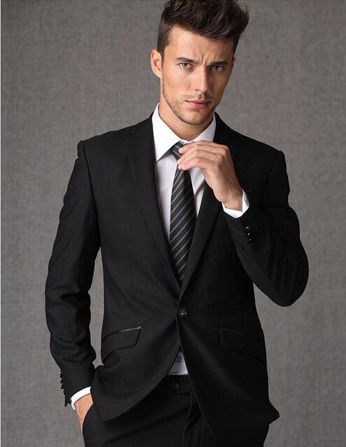 black suit mens youth suits wedding dress man suit terno slim fit ...