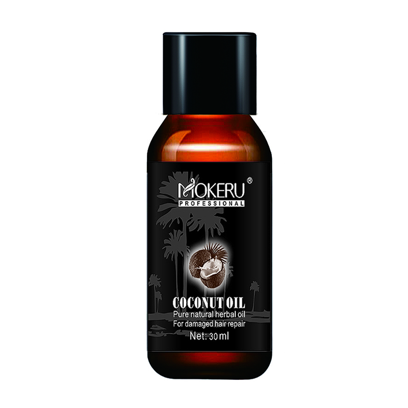 Mokeru 30ml Natural Organic Coconut Hair Oil Repair Smooth Damaged Hair Growth Oil Leave in Conditioner for Hair Care Treatment 5