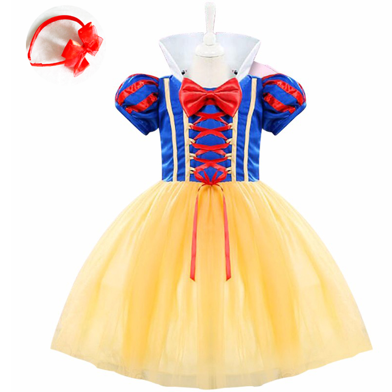 3 PCS Baby Girl Cosplay Party Dress Children Snow White Costume Children Infant Fancy Halloween princess costumes for girls halloween cosplay costumes girls alice in wonderland costume lolita fancy dress cosplay costume for children