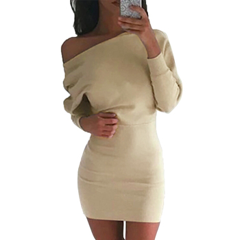 Алиэкспресс Иркутск - Summer Sexy Bandage Dress Women Casual Loose Ladies Office Wear Solid Long Sleeve Off the Shoulder Mini Dress Plus Size 5XL 3XL , aliexpress shopping ru, товары с aliexpress, купить на алиэкспресс