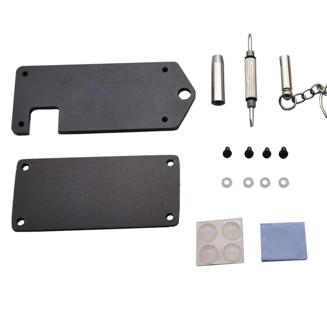 Modiker 1Pc Ultra-thin ZV2 CNC Aluminum Alloy Protective Case With Screwdriver For Raspberry Pi Zero / W - Black