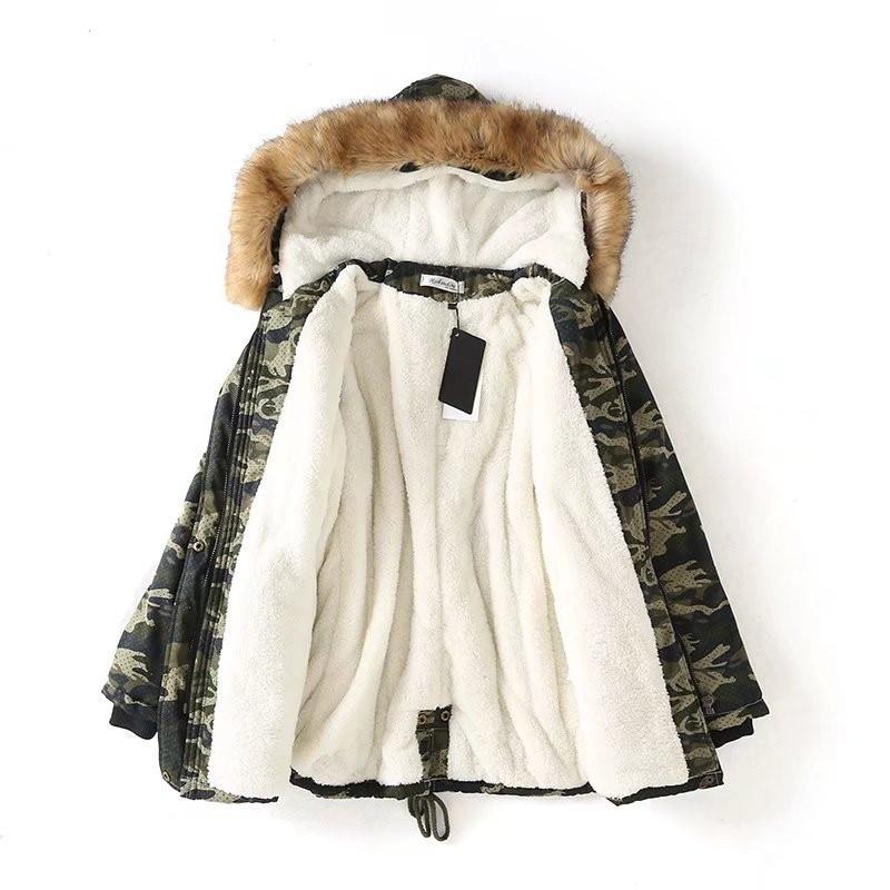 OLGITUM 2018 New Fashion Winter Cotton Jacket Women Camouflage Coats Parka Sashes Slim Jackets Female Coat Parkas CC589