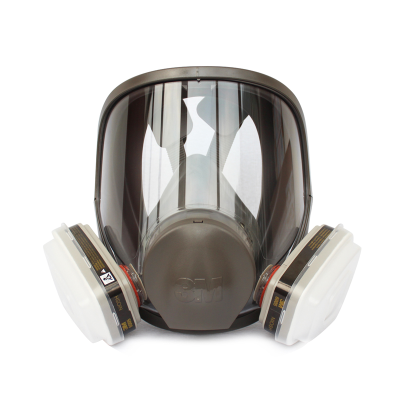 3M 6800+6005 Full Facepiece Reusable Respirator Filter Protection Mask Respiratory Organic gases&Vapors/Formaldehyde LT0417 3m 6800 6009 safety protective full facepiece reusable respirator mask respiratory mercury organic vapor