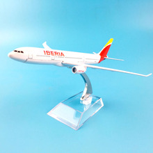 цены 16CM Spain Iberia Airlines A330 A380 Boeing 747 400 777 metal airplane Birthday gift plane models Model W Stand Toys For Childre