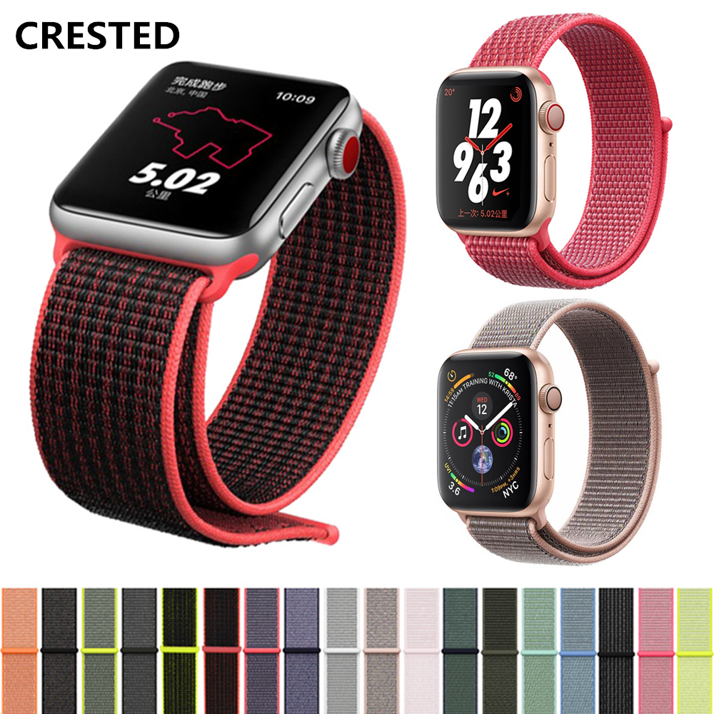 Nylon Sport loop strap for apple watch band 4 44mm 40mm correa aple watch 42mm 38mm bracelet wrist bands iwatch series 4/3/2/1 eimo sport loop strap correa for apple watch band 42mm 44mm 40mm 38mm iwatch series 4 3 2 1 woven nylon bracelet wrist watchband