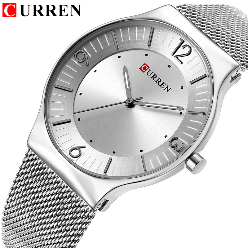 CURREN New Arrival Simple Style Fashion&Casual Business Men Watches Full Steel Quartz Men's Wristwatch Relogio Masculino Relojes