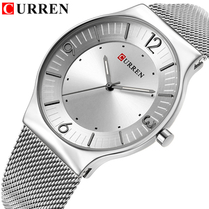 Image 1 - CURREN New Arrival Simple Style Fashion&Casual Business Men Watches Full Steel Quartz Mens Wristwatch Relogio Masculino Relojes