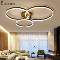 Rings Modern LED Ceiling Light For Living Room Bedroom Dining room Led Lustre Acrylic Chandelier Ceiling Lamp Lighting Fixtures