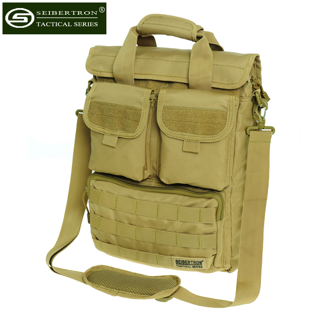 """Seibertron pria Militer Taktis Tas Bahu 15 """"Tas komputer Messenger Bag Tas Tas 14.1 inch tas laptop"""