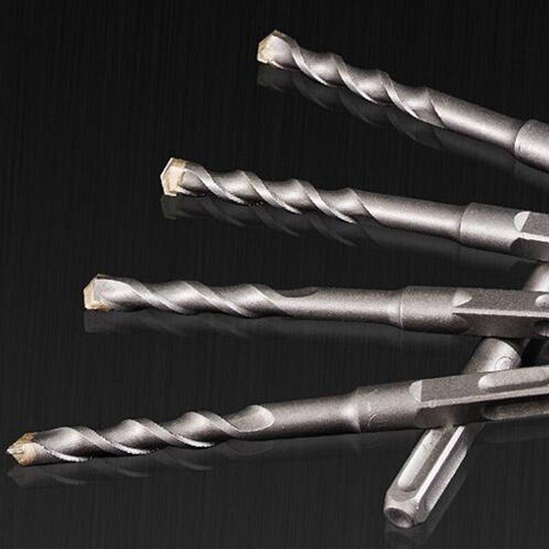 3 pezzi lunghi 150mm 6/8 / 10mm piastrelle trapano cemento cemento marmo, martello trapano a percussione maniglia a quattro fori SDS più trapano in metallo duro,