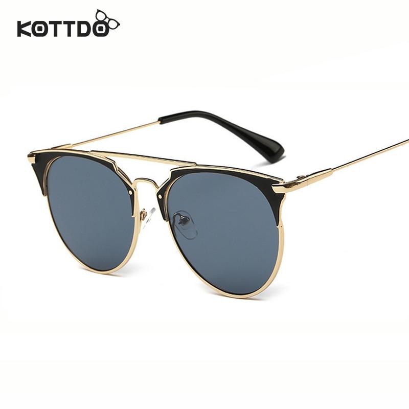 Runde Sonnenbrille mit halbem Rahmen Frauen Retro Vintage - Bekleidungszubehör - Foto 5