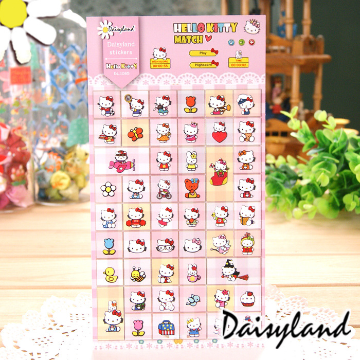 5 pcs /lot Cartoon scrapbooking stickers post it stationery Hello kity scrapbook paper kawaii stickers/ Daisyland 1085