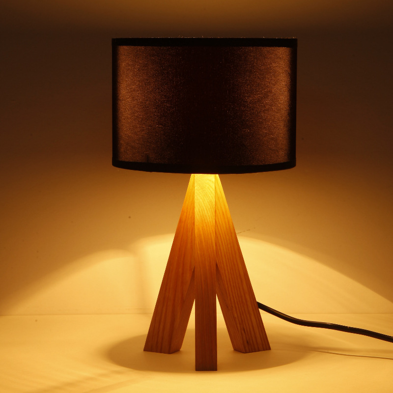 Novel wooden Table Lamp 300mm Modern Industrial lamp wood cloth table lamp  for reading Style desk lighting. Popular Modern Wood Table Buy Cheap Modern Wood Table lots from